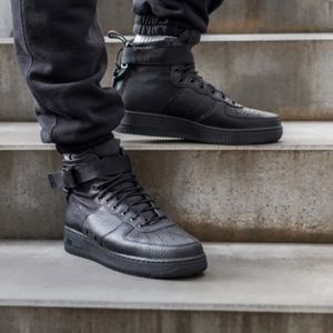 free shipping 63287 22d6a Nike Shoes - Nike SF AIR FORCE 1 MID - Men s Triple Black Shoes